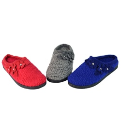 DimeCity Women's 'Ronce' Flower Detail Slippers