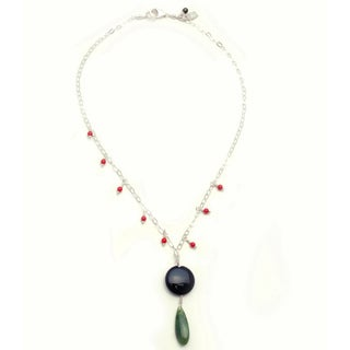 Sterling Silver 'Center Stage' Beaded Necklace (USA)