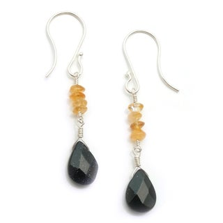 Sterling Silver 'Three Sisters' Gemstone Earrings (USA)