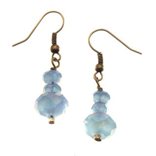 Brass 'Bloom' Crystal Earrings (USA)