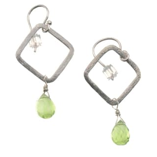 Sterling Silver 'Simplicity' Peridot Earrings (USA)