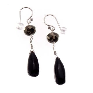 Sterling Silver 'Little Black' Onyx Earrings (USA)