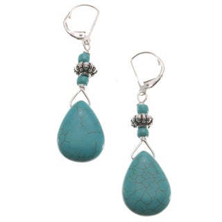 Sterling Silver 'Western Spirit' Turquoise Howlite Earrings (USA)