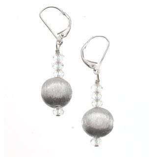 Sterling Silver 'Brilliance' Bead Earrings (USA)