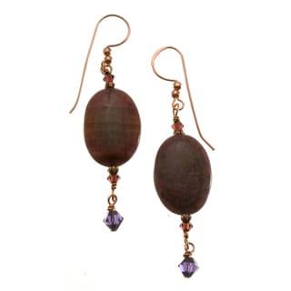 Copper 'Regal' Crystal Earrings