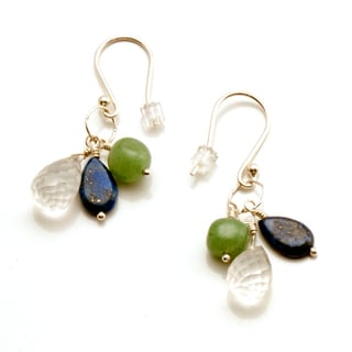 Sterling Silver 'Healing Waters' Gemstone Earrings (USA)
