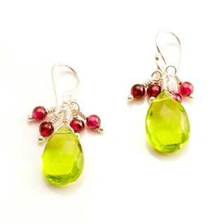 Sterling Silver 'Timeless' Gemstone Earrings (USA)