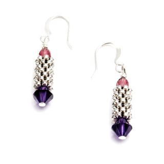 Sterling Silver 'Powerful' Crystal Earrings (USA)