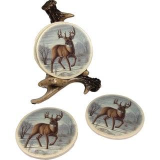 River's Edge Deer Antler Coaster Set