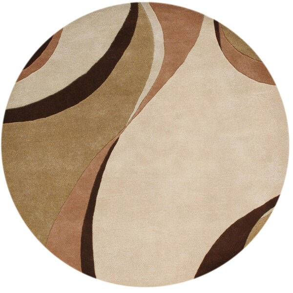 Alliyah Handmade Beige New Zealand Blend Wool Rug