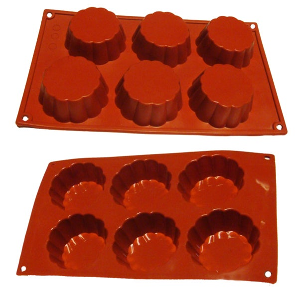 Brioche 6-cavity Silicone Mold/ Baking Pan 10852070