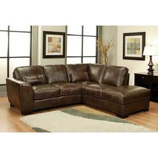 Abbyson Living Vegas Premium Italian Leather Sectional