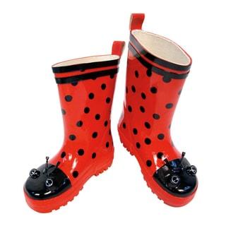 Kidorable Children's Ladybug Rainboots