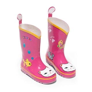 Kidorable Children's Pink Lucky Cat Rainboots