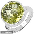 Marcel Drucker Sterling Silver Gemstone and Diamond Accent Ring