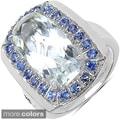Marcel Drucker Sterling Silver Bezel-Set Gemstone and Diamond Accent Ring