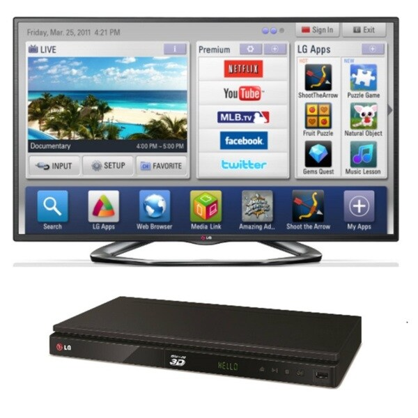 LG 60LA6200 60-inch Smart LED Television with BP530 Bluray Player