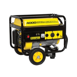 Champion 4000 Watt Portable Generator With RV Outlet and Wheel Kit