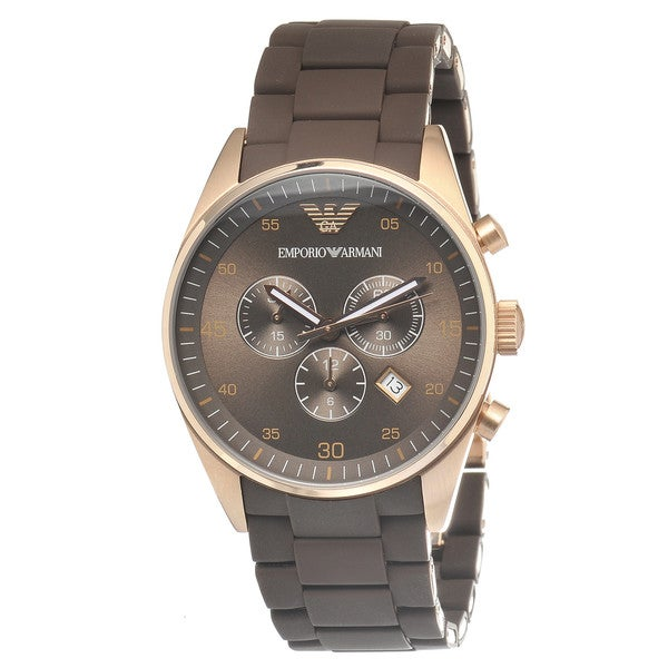 Emporio Armani Men's Brown/ Rose Goldtone Watch