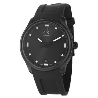 Calvin Klein Men's 'Visible' Black Stainless Steel Swiss Quartz Watch