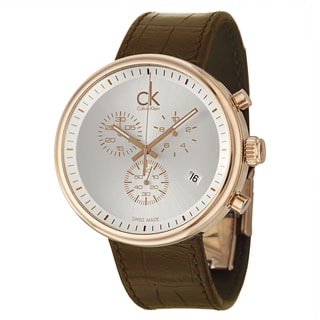Calvin Klein Men's 'Substantial' Rose-goldplated Swiss Quartz Watch
