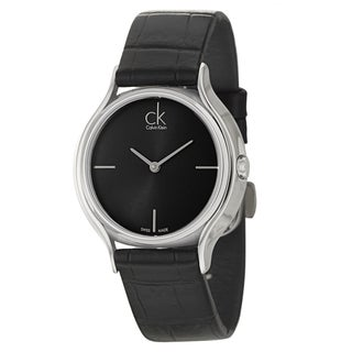 Calvin Klein Women's 'Skirt' Black Swiss Quartz Watch