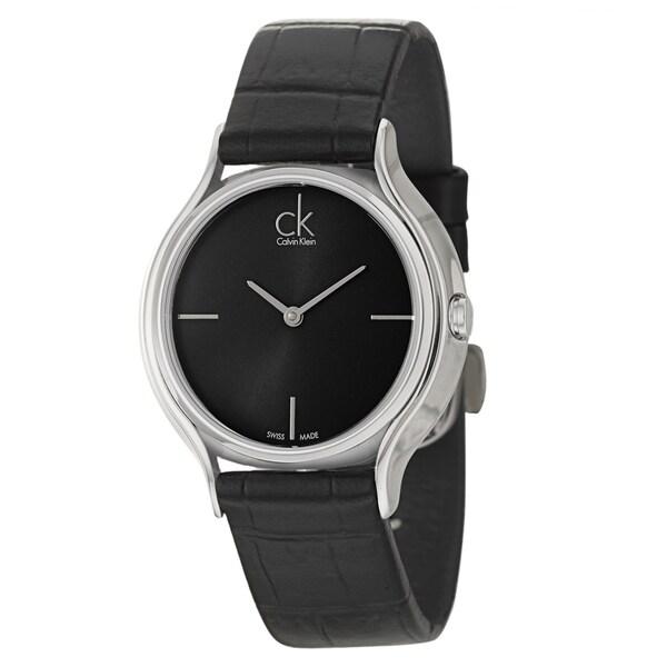 Calvin Klein Women's 'Skirt' Black Swiss Quartz Watch