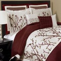 Lush Decor Nature Medley 8-piece Red Comforter Set