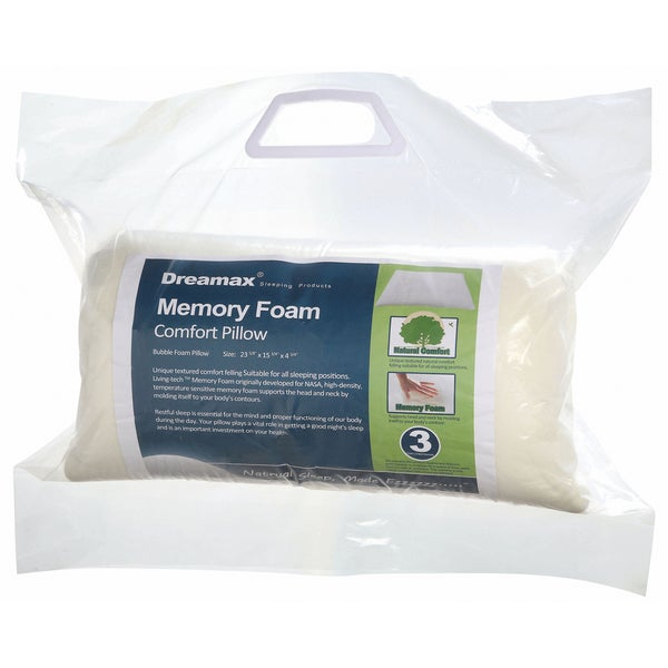 Furniture of America Sweet Dreams Memory Foam Combo Pillow