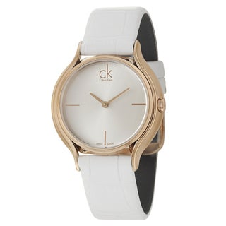 Calvin Klein Women's 'Skirt' Rose-goldplated Swiss Quartz Watch