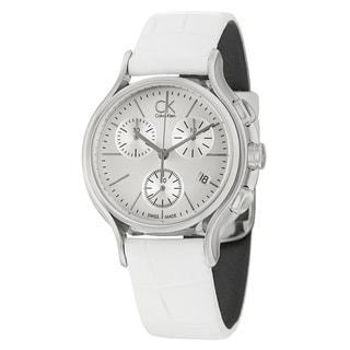 Calvin Klein Women's 'Skirt' Silver Dial Swiss Quartz Watch