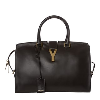 Yves Saint Laurent &#39;Cabas Classique Y&#39; Leather Tote Bag