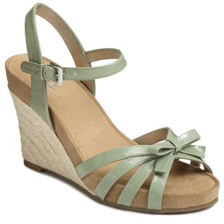 A2 by Aerosoles Women's Light Green 'Ivyplush' Sandals