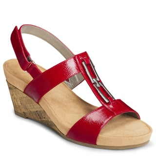 A2 By Aerosoles Women's 'Lightbulb' Red Wedge Sandals