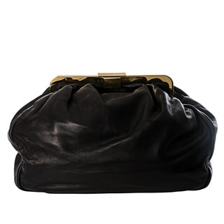 Miu Miu Nappa Leather Pleated Frame Bag