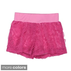 Paulinie Collection Girls' Embellished Mesh Shorts