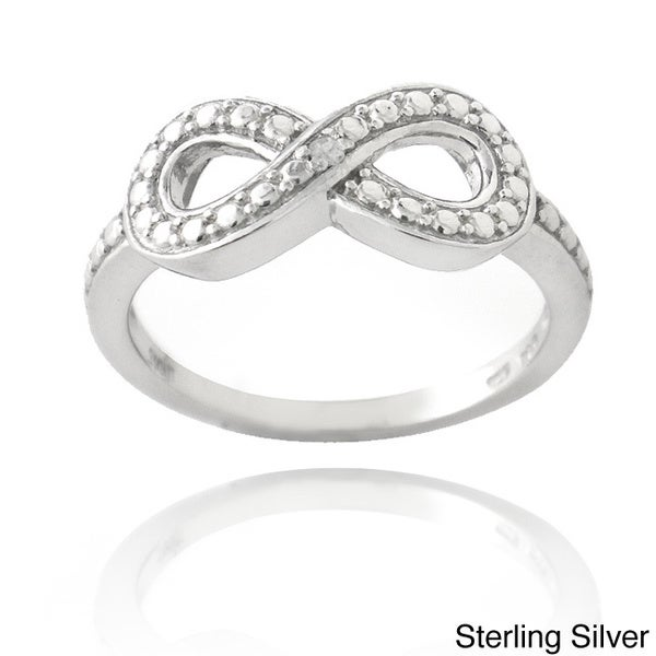 DB Designs Sterling Silver Diamond Accent Infinity Ring