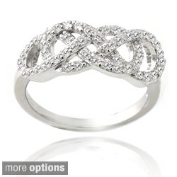 Icz Stonez Sterling Silver Cubic Zirconia Infinity Ring