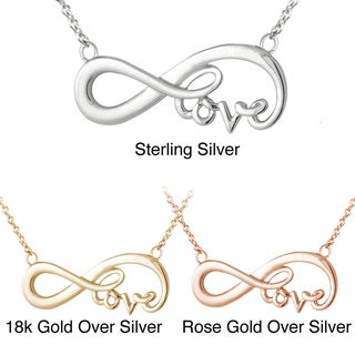 Mondevio Sterling Silver Infinity Love Necklace
