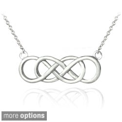 Mondevio Silver Infinity Knot Necklace