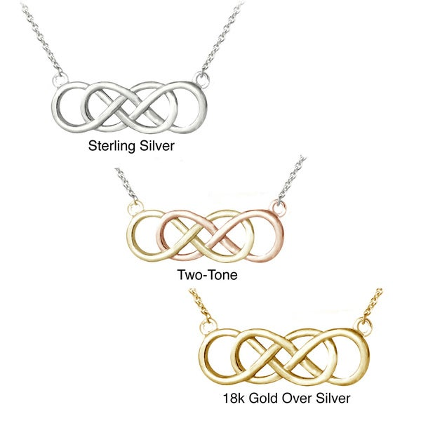 Mondevio Silver Infinity Knot Necklace 10854092
