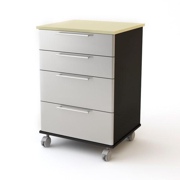 Garage Roll-away 4-drawer Cart