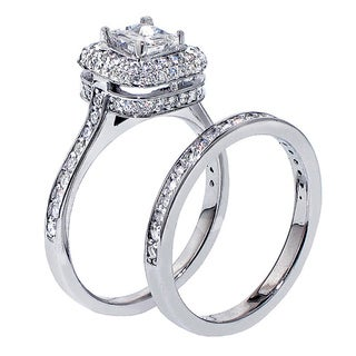 14k White Gold 1 3/4ct TDW Diamond Bridal Ring Set (F-G, SI1-SI2)