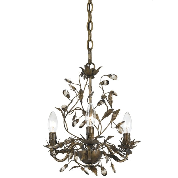 Transitional 3-light Mini Chandelier in English Bronze