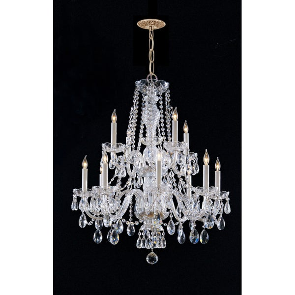 Maria Theresa 12-light Chandelier in Brass