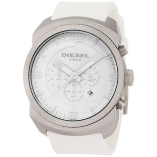 Diesel Men's White Rubber Strap Watch