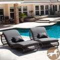 Christopher Knight Home Miller Grey Wicker Lounge Chairs (Set of 2)