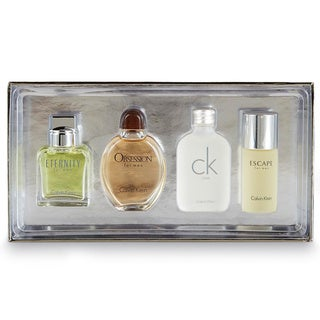 Calvin Klein Variety Men's 4-Piece Mini Gift Set