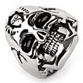 Stainless Steel Frankenstein Skull Ring