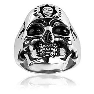 Stainless Steel Frankenstein Skull Ring